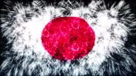 firework display flag of Japan video