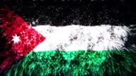 firework display flag of Jordan video