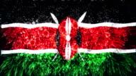 firework display flag of Kenya video