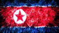 firework display flag of Korea Democratic video