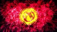 firework display flag of Kyrgyzstan video
