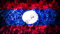 firework display flag of Laos video