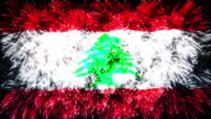 firework display flag of Lebanon video