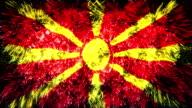 firework display flag of Macedonia video