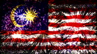 firework display flag of Malaysia video