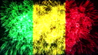 firework display flag of Mali video