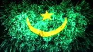 firework display flag of Mauritania video