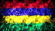 firework display flag of Mauritius video