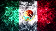 firework display flag of Mexico video