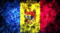 firework display flag of Moldova video