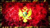 firework display flag of Montenegro video