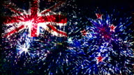firework display flag of New Zealand video