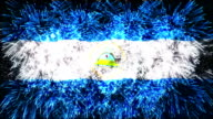 firework display flag of Nicaragua video