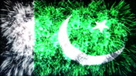 firework display flag of Pakistan video