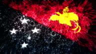 firework display flag of papua new guinea video