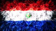 firework display flag of Paraguay video