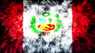 firework display flag of Peru video