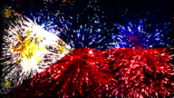 firework display flag of Philippines video