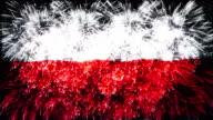 firework display flag of Poland video