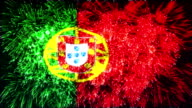 firework display flag of Portugal video