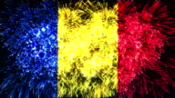 firework display flag of Romania video