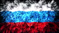 firework display flag of russia video
