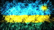 firework display flag of Rwanda video