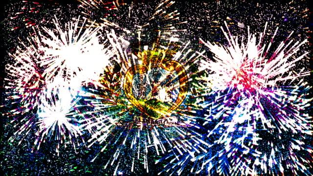 firework display flag of San Marino video