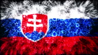 firework display flag of Slovakia video