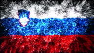 firework display flag of Slovenia video