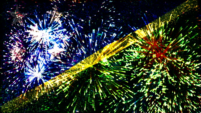 firework display flag of solomon islands video