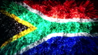 firework display flag of South Africa video