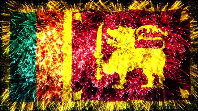 firework display flag of Sri Lanka video