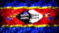 firework display flag of Swaziland video