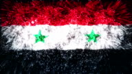 firework display flag of Syria video