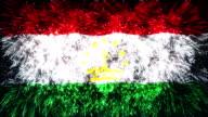 firework display flag of Tajikistan video