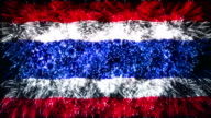 firework display flag of Thailand video