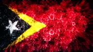 firework display flag of Timor-Leste,East Timor video