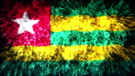 firework display flag of Togo video
