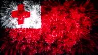 firework display flag of Tonga video