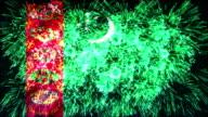 firework display flag of Turkmenistan video