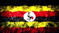 firework display flag of Uganda video