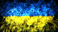 firework display flag of Ukraine video