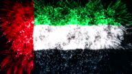 firework display flag of united arab emirates video