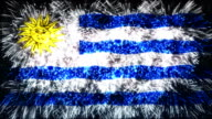 firework display flag of Uruguay video