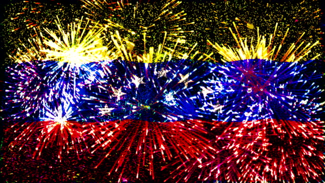 firework display flag of Venezuela video