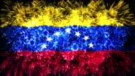 firework display flag of Venezuela video