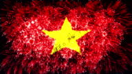 firework display flag of Vietnam video