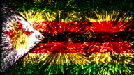 firework display flag of Zimbabwe video