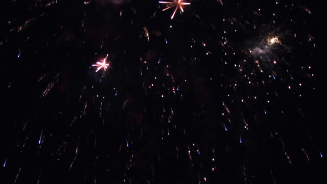 Firework Display, loopable, slow motion video